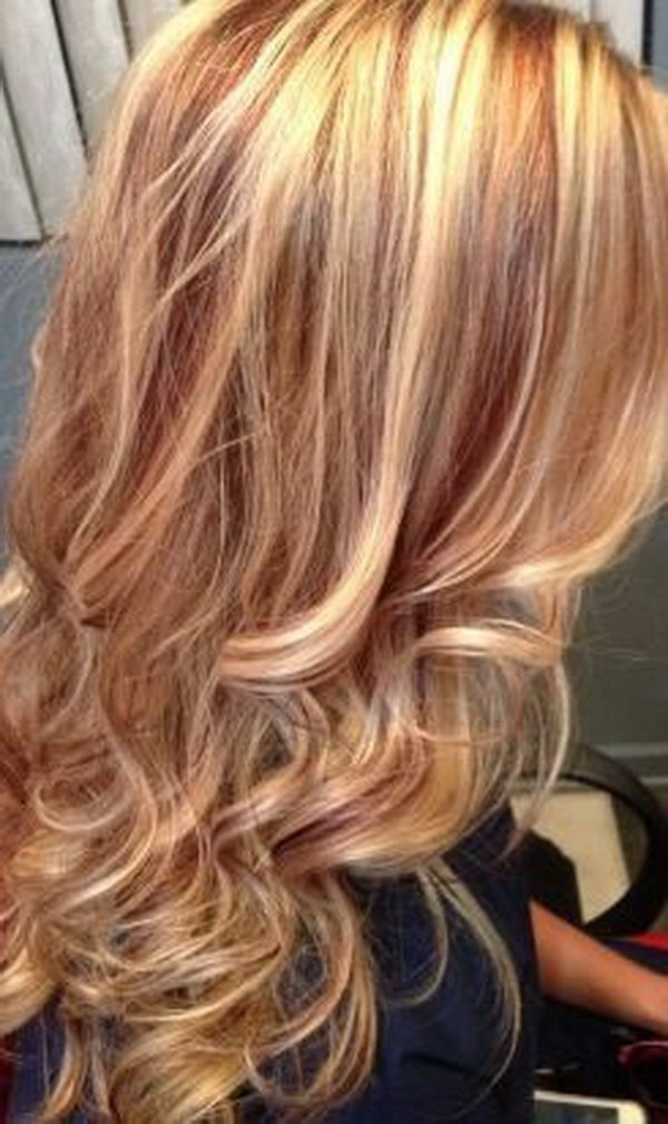 25 Hottest Blonde Hairstyles with Red Highlights 2017