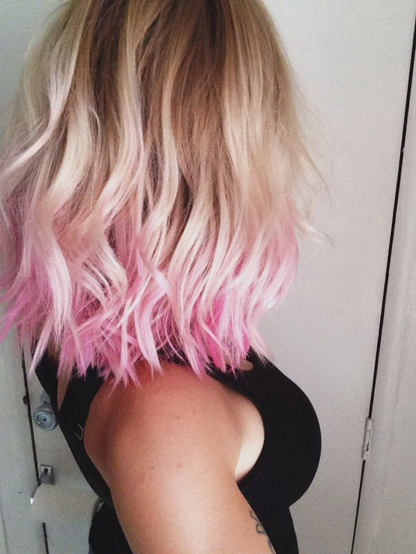 Funky Red Highlights in Blonde Hair.