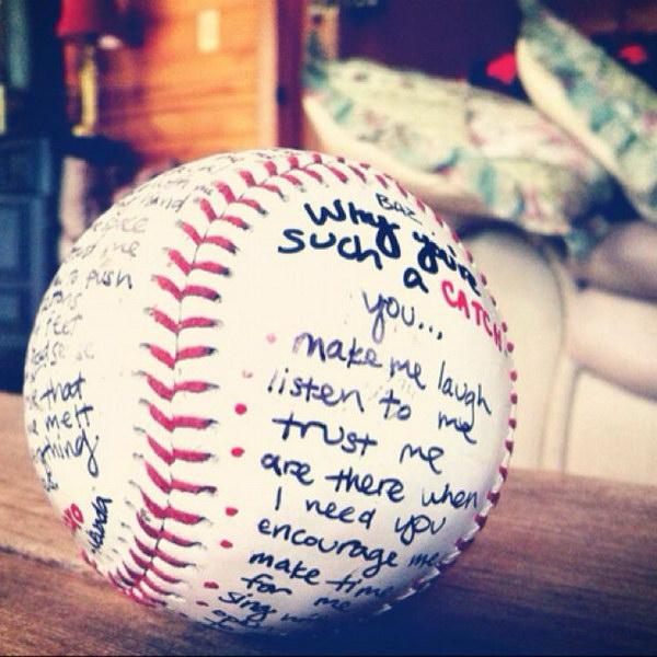 DIY Autographed Baseball.