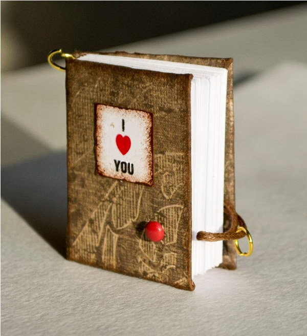 Miniature Valentine's Notebooks.