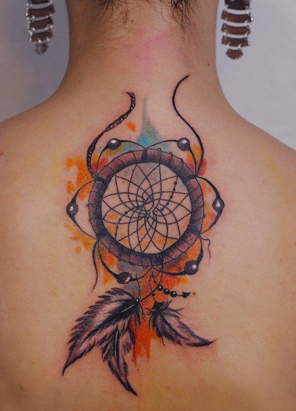 60 dreamcatcher tattoo designs 2017 ForWatercolor Dreamcatcher Tattoo
