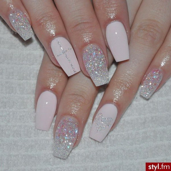 Nail Designs Glitter Gel Nail Art Designs All White Nails With Design