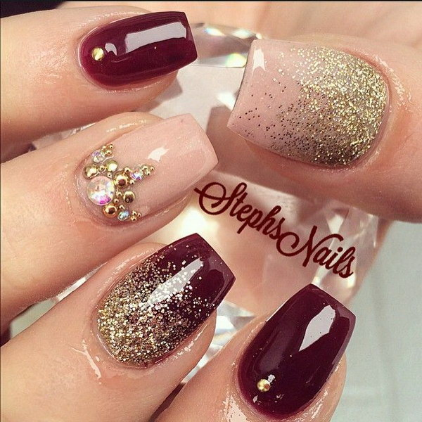 Nail Art Ideas: 70+ Stunning Glitter Nail Designs 2017
