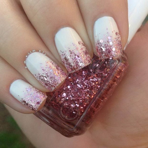 Glitter Ombre Nail Design - 70+ Stunning Glitter Nail Designs 2017