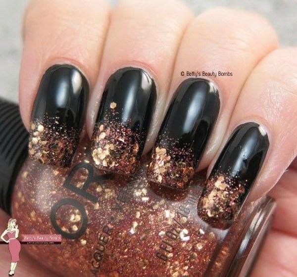 70 Stunning Glitter Nail Designs 2017