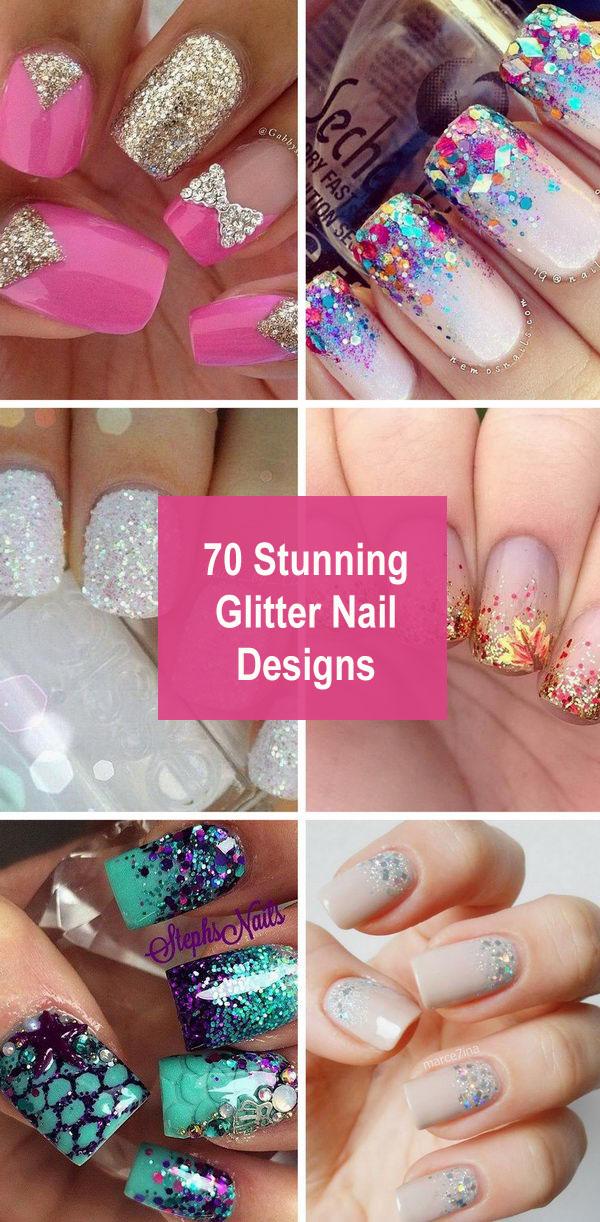 70+ Stunning Glitter Nail Designs.