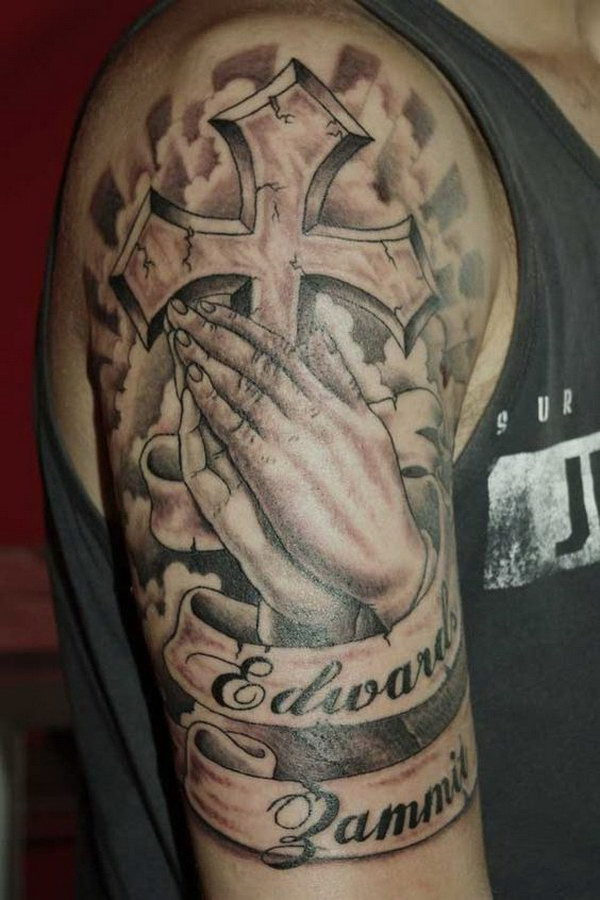 Religious Sleeve Tattoos Ideas For Men.