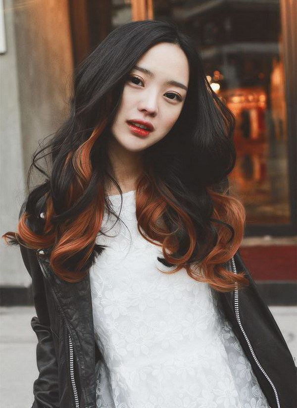 Long Wavy Hairstyle with Highlights.