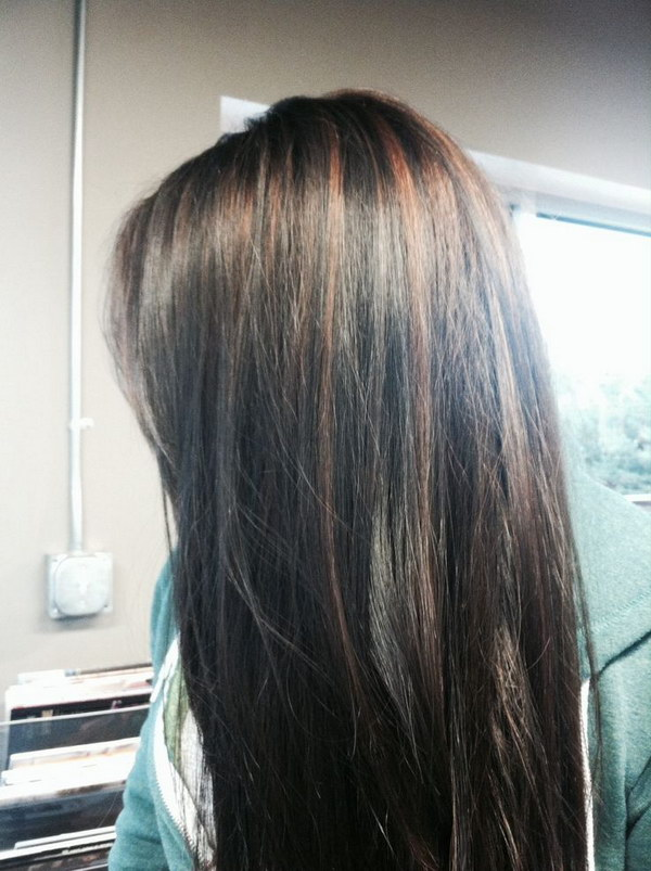 Colored Highlights For Black Hair.