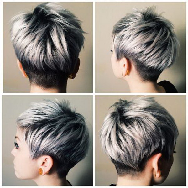 Silver Color Highlights for Black Hair.