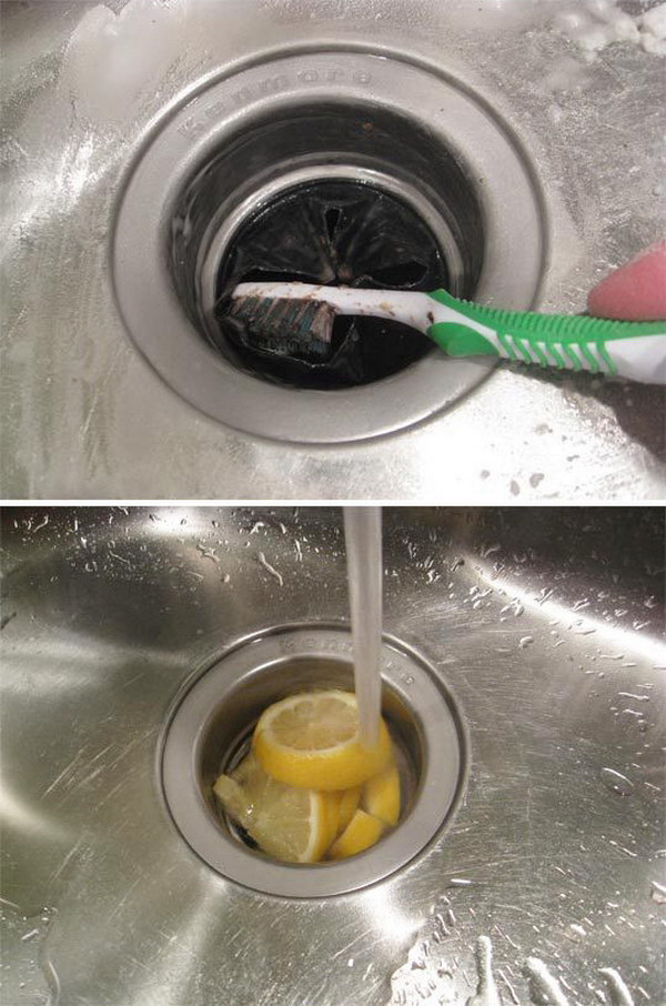 Use A Toothbrush To Clean Your Sink Drain