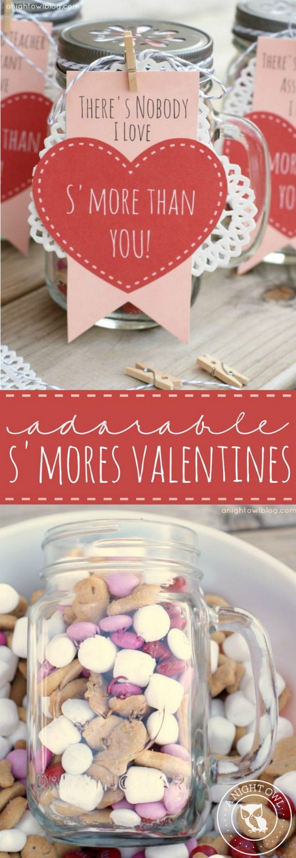 70 DIY Valentine\'s Day Gifts & Decorations Made From Mason Jars 2017