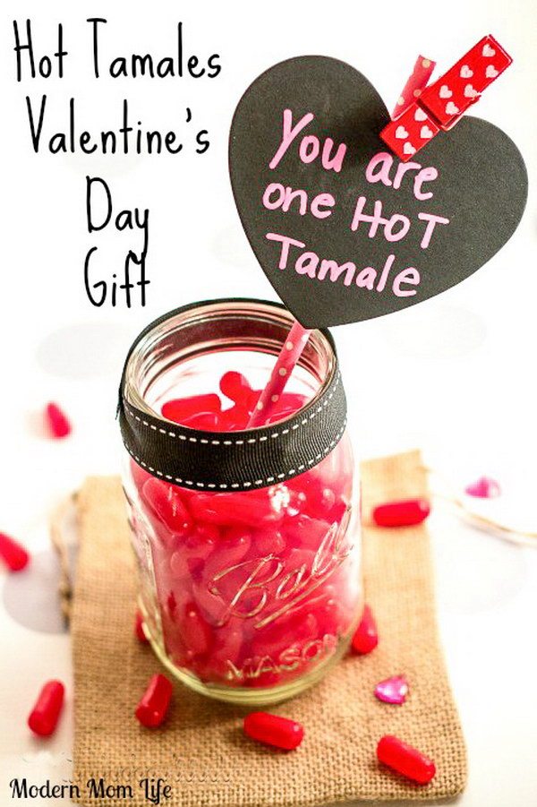 Hot Tamales Valentine's Day Mason Jar