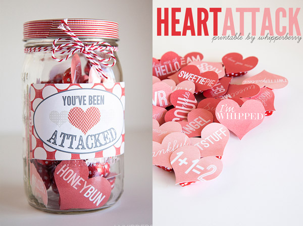 Valentine's Day Heart Attack Mason Jar