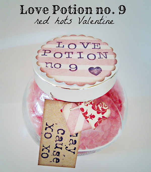 Love Potion Number 9 Mason Jar Gift