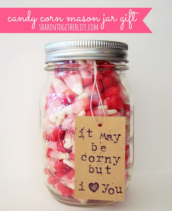 Candy Corn Mason Jar Gift