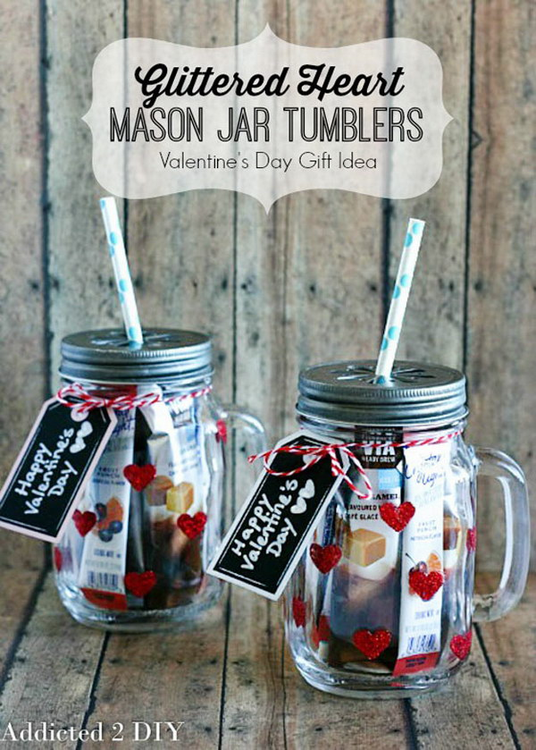 70 Diy Valentine S Day Gifts Decorations Made From Mason Jars 2017