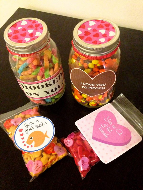 Valentine's Day Message Mason Jars for Boyfriend