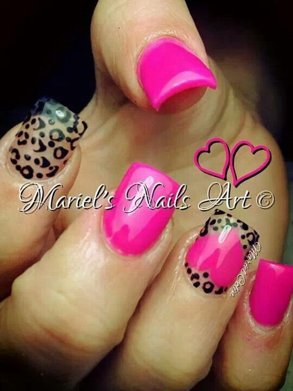 Animal Prints Valentine's Nail.