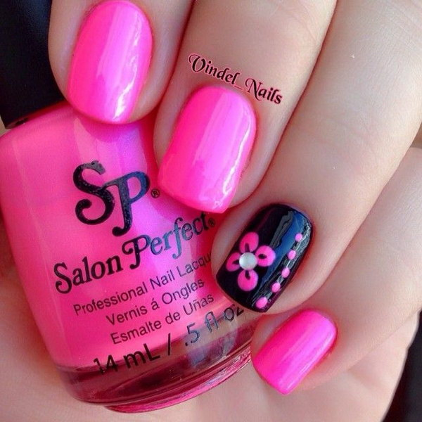 50 beautiful pink and black nail designs ideastand 600x600 jpeg