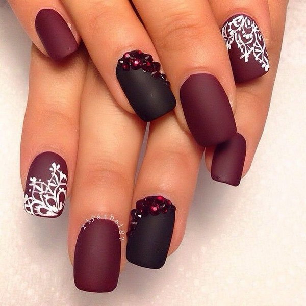 Photo collection nail designs red best 25 red nail designs ideas on pinterest red nails prinsesfo Gallery