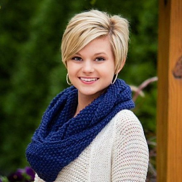 Hairstyles For Chubby Faces short blonde haircuts for chubby faces Long Pixie Hairstyle For Round Faces