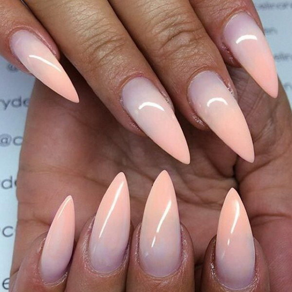 Ombre Stiletto Nail Design.