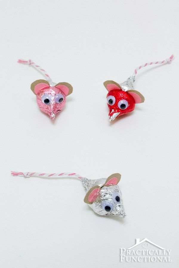 Cute Valentine's Day Hershey's Kisses Mice