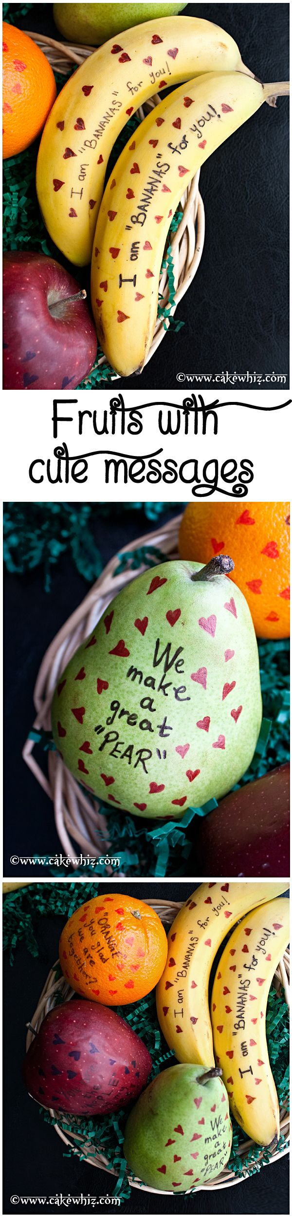 Fruits with Cute Messages