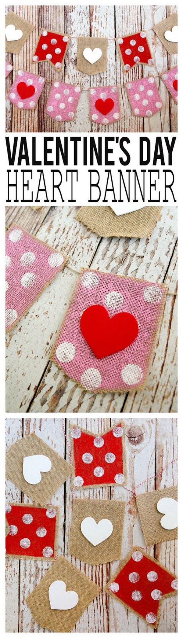 Valentine's Day Heart Banner