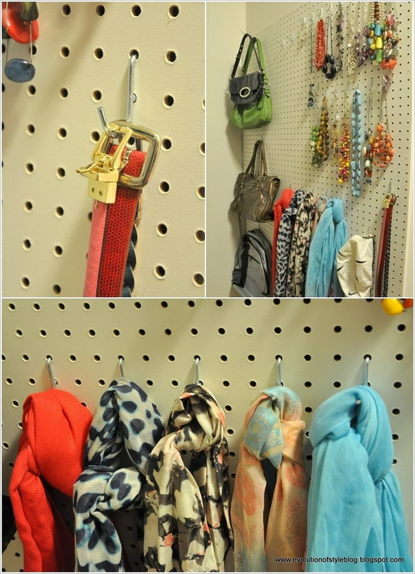 Use A Pegboard as An Awesome Organizer.