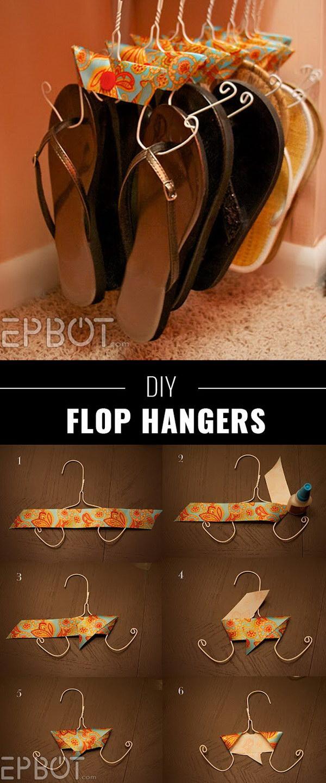 Wire Coat Hangers Made with Flip Flops Hangers.