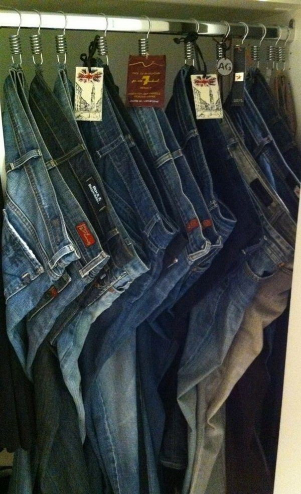 Space saving Jeans Storage Tips.