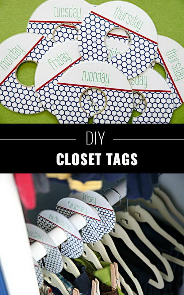 DIY Closet Tags.