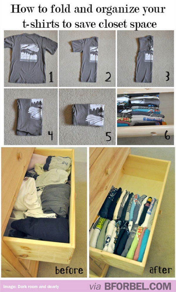 File Your Clothes To Maximize Your Closet Storage Space.