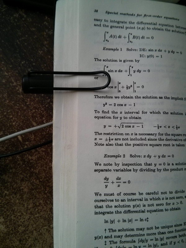 Use A Pen To Keep Your Textbook Open.