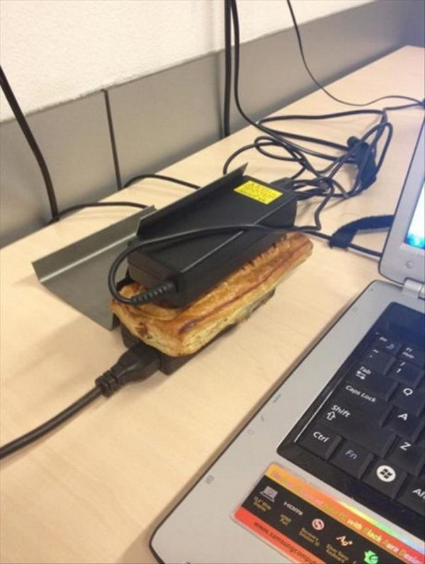 Use Computer Devices To Heat Up Your Breakfast.