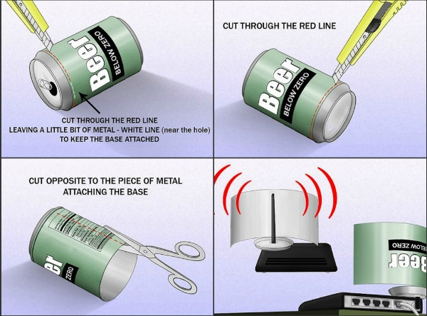 How To Boost Your Wifi Signal With A Cola Can.