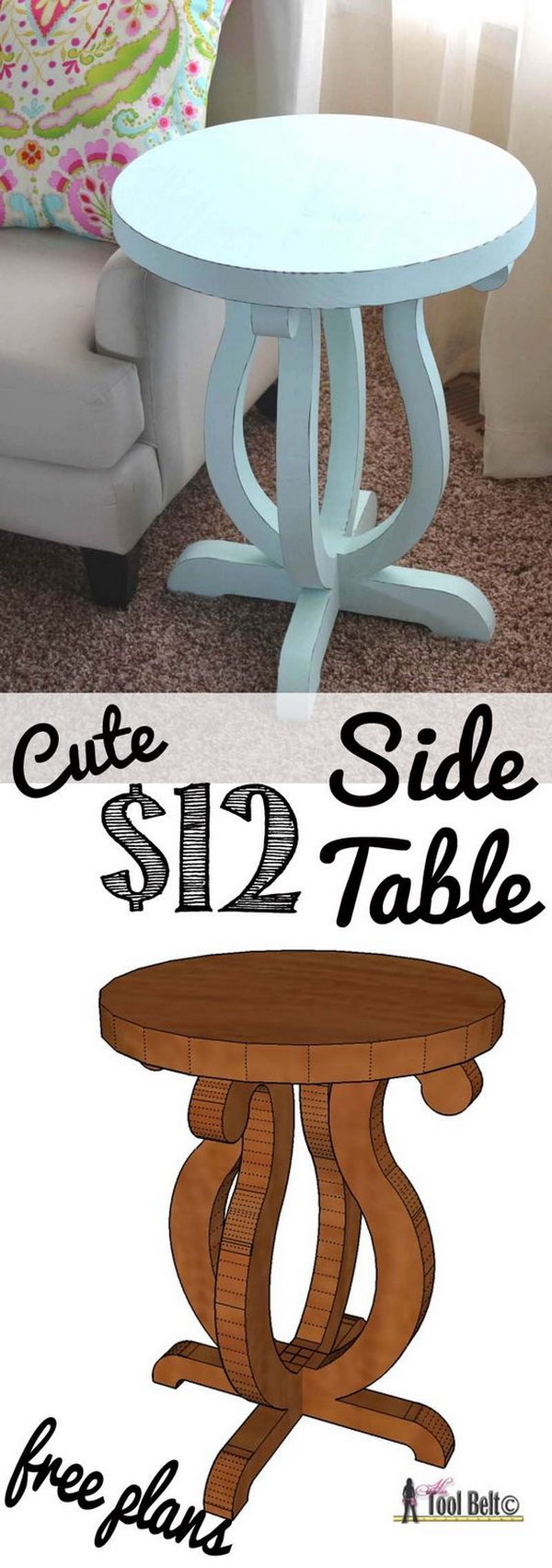 25 diy side table ideas lots of tutorials ideastand 12 curvy side table