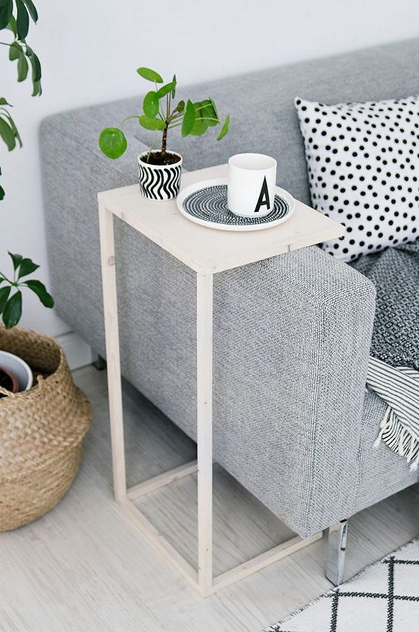 25 diy side table ideas with lots of tutorials 2017 for Sofa side table designs