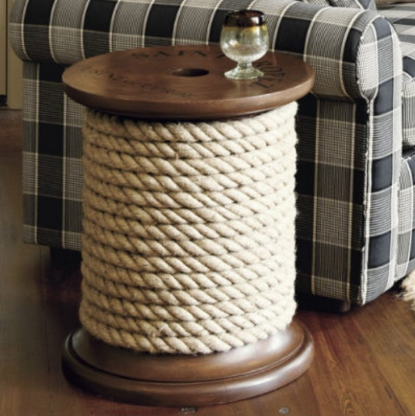 DIY Ballard Knockoff Spool Side Table