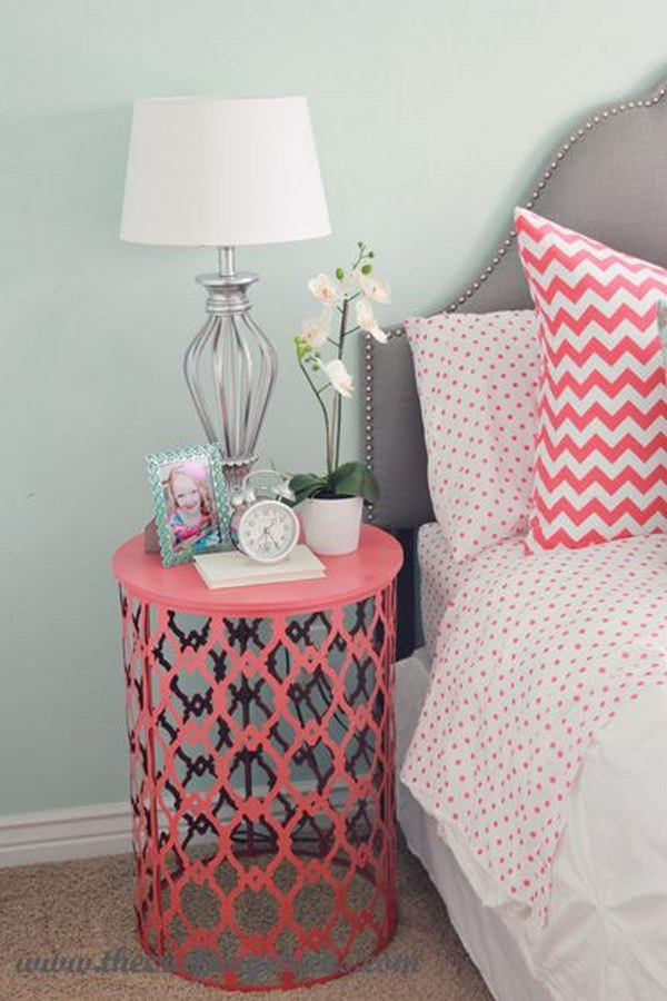 25 diy side table ideas with lots of tutorials 2017 Night table ideas