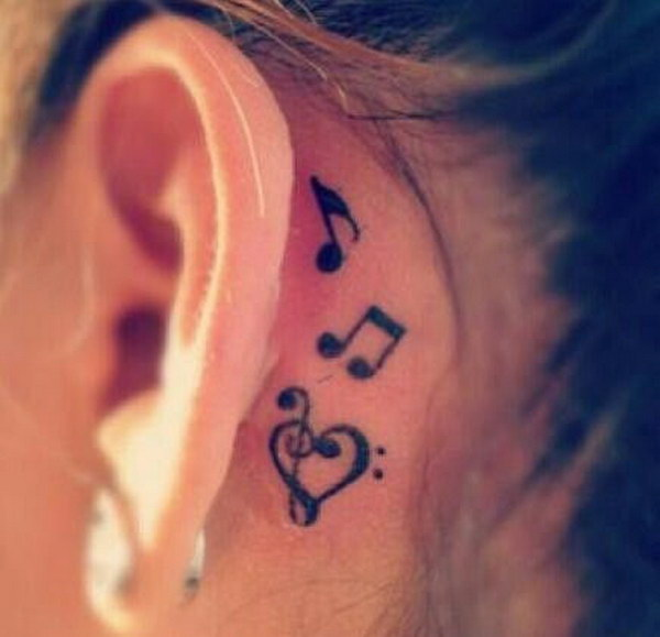 60+ Pretty Designs of Ear Tattoos 2017