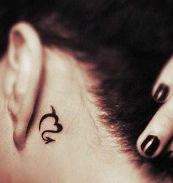 Scorpio Ear Tattoo Design.