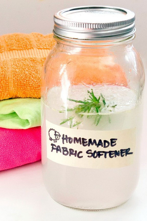 All-natural Homemade Fabric Softener.