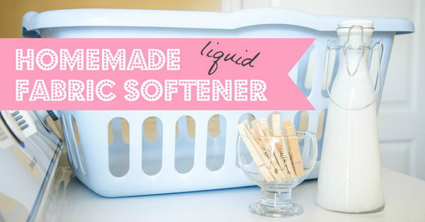 Homemade Liquid Fabric Softener.