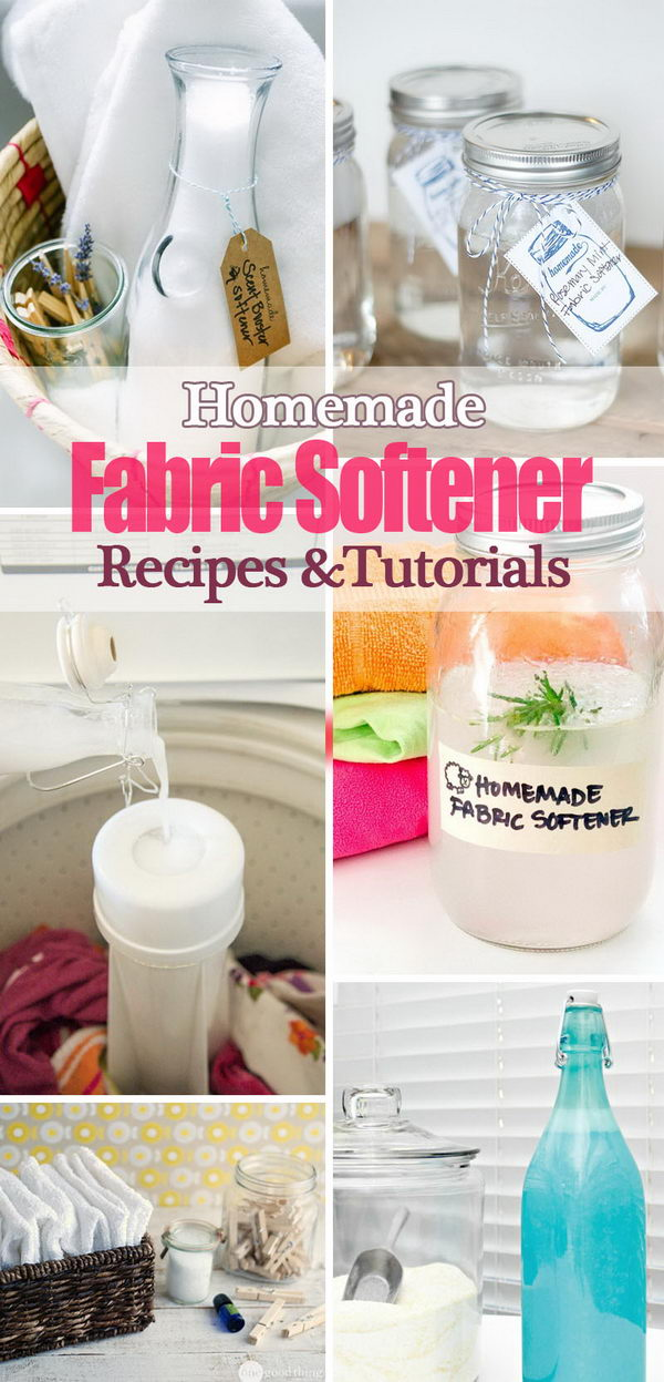 Homemade Fabric Softener Recipes and Tutorials.