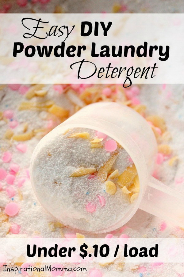 Easy DIY Powder Laundry Detergent.