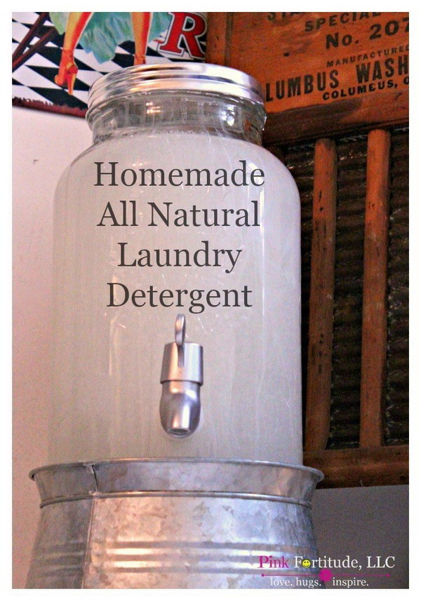 Homemade All Natural, Non Toxic Laundry Detergent.