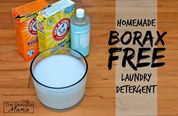 Homemade Borax-Free Laundry Detergent.